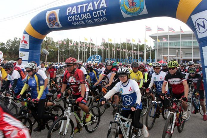 More than 2,500 bicyclists hit the road May 22 for the latest Nation Bike event in Pattaya.