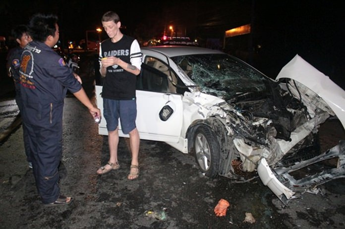 Sergii Karvatskyi escaped major injury, but not the law when he slammed his car into the back of a pickup truck.