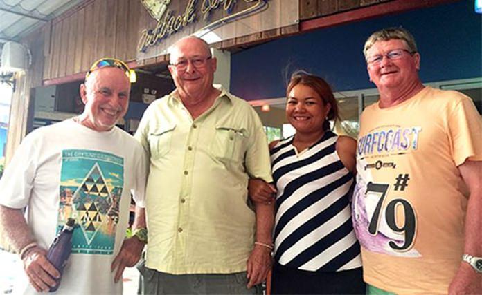 (From left) Sugar Ray Handford & Andy Makara with Eng and Wayne Cotterell.