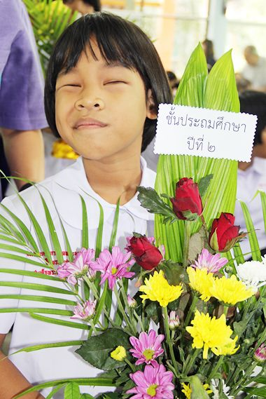 Flowers for the teachers.