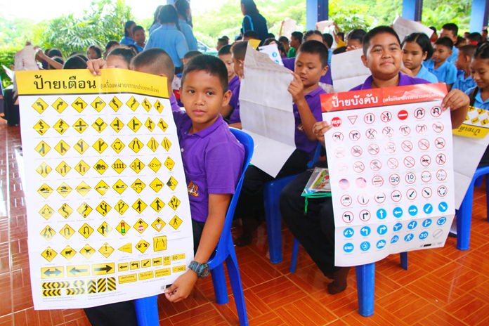 Youngsters are learning the rules of the road early in Sattahip.