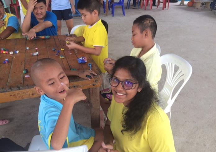 Playing and making things is always a popular activity at the special school.