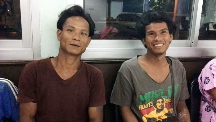 Cambodian laborers Pleng Pol and Iza Pleng-iza have been arrested for cooking and trying to eat a dog.