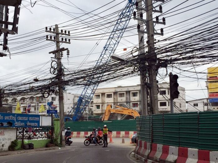 An example of what Bill Gates was talking about. Photo taken of an electric post near Pattaya School 5.