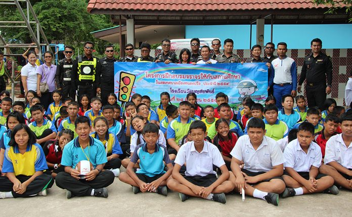 Nongprue continued its efforts to educate young drivers on the rules of the road, hosting another driving clinic at Wat Boonsampan School.