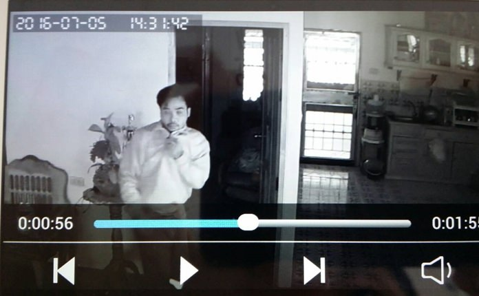 Police are looking for a burglar caught on video breaking into the family home of a cable-television reporter.