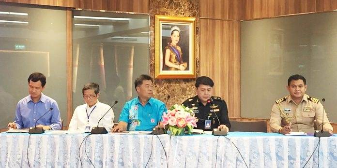 Banglamung District and military meet to begin mapping out disaster-relief plans should severe flooding strike this rainy season.