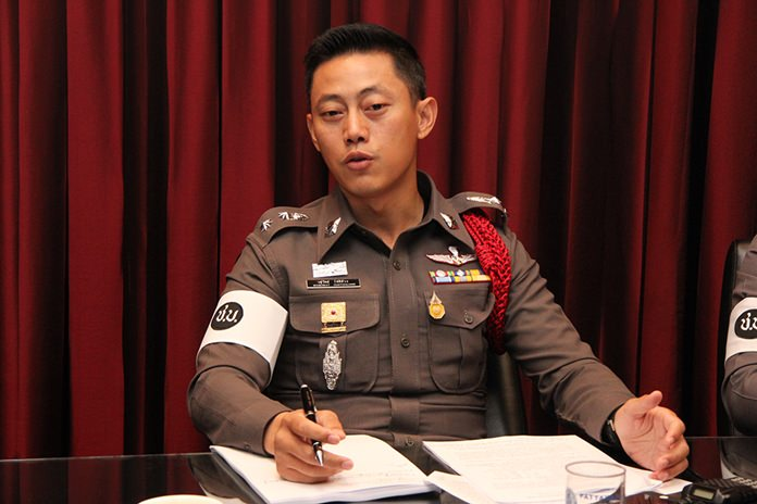 Pol. Lt. Col. Wasuwat Chotechuang, the newly appointed chief of the Traffic Division, announces another crackdown on parking scofflaws.
