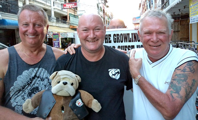 (From left) Glenn Smith with D-For, Peter Bye and Steve Younger.