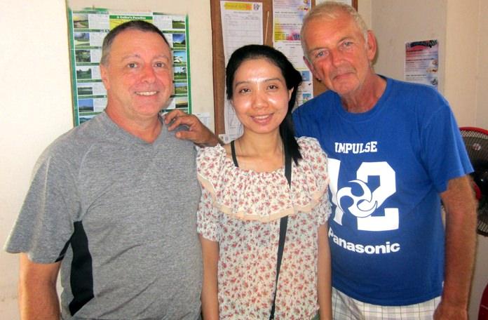 (From left) Tom Herrington, Jun and Mick Coghlan.