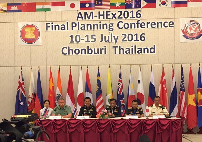Defense officials from across Southeast Asia met to discuss the upcoming ADMM-Plus Military Medicine and Humanitarian Assistance and Disaster Relief Exercise scheduled for Sept. 1-11 in Chonburi.