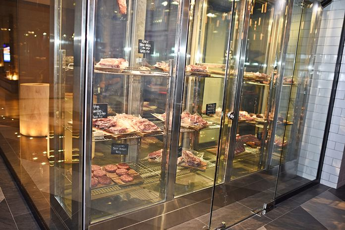 The Butcher's Room keeps the meat at the perfect temperature.