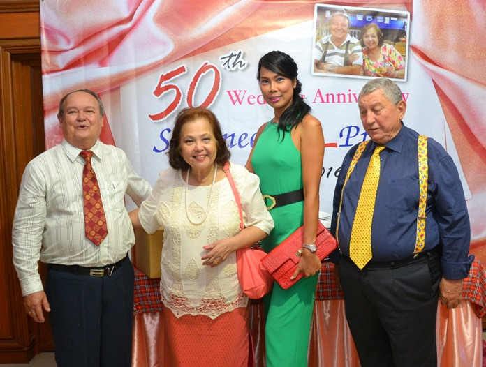 Over a hundred guests including family and friends attending the joyous celebrations at St. Nikolas Church and at the Town in Town Hotel.