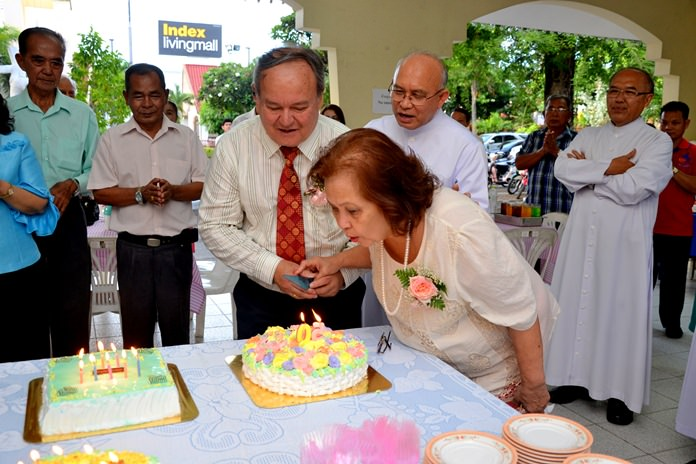 A double celebration, 50th wedding anniversary and Prem's birthday.