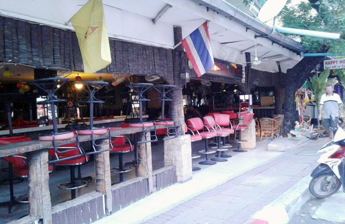 Bars were quiet during the Buddhist holy days.
