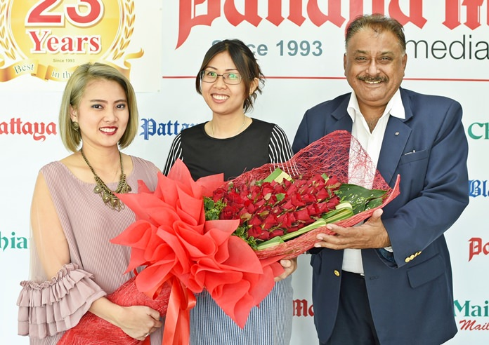 Sasima Panichvibool 'Love' Group PR and Marketing Manager of Sunshine Hotels & Resorts represented the Supornsahatrangsi family in wishing us continued success for many years to come.