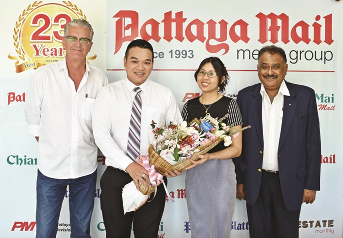 Manatchart Pai-anan (Pop) Public Relations Executive brought us good wishes from the management of the A-One Hotel.