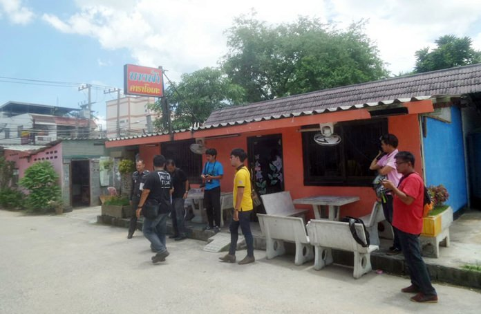 A senior investigator for Provincial Police Region 2 in Chonburi was suspended amid allegations he framed the owner of this Pattaya karaoke bar and demanded a bribe to make the case go away.