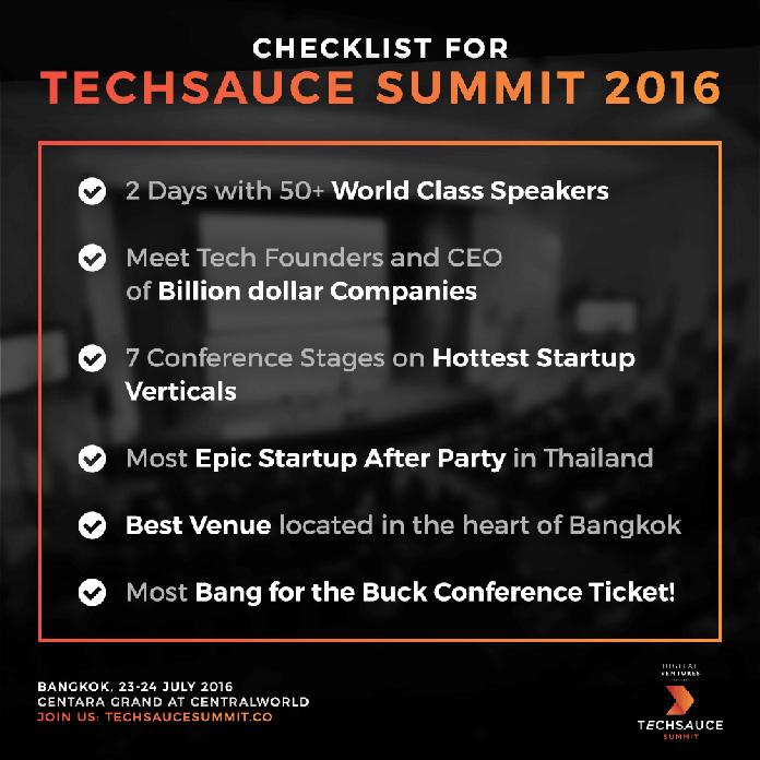 Meet top Startup Venture Captitals at Techsauce Summit 2016