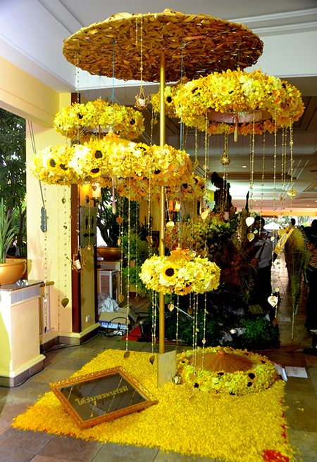 Beautiful flower umbrellas in the Flower Decoration competition.