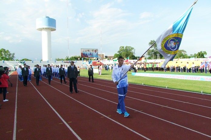 Students from across Thailand converged on Chonburi to complete in 20 different sports the 19th Sammook Games.