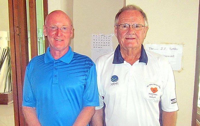 Graham Buckingham (left) with Derek Brook.