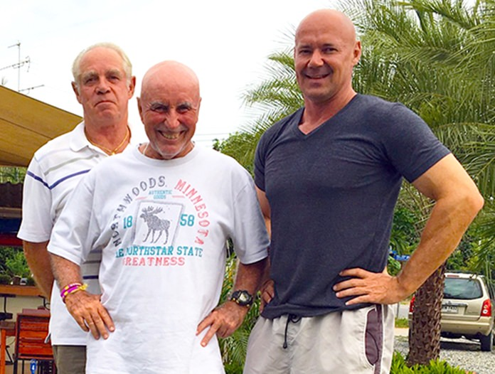 From left, Stefan Hoge, Sugar Ray Handford and Andre Coetzee.