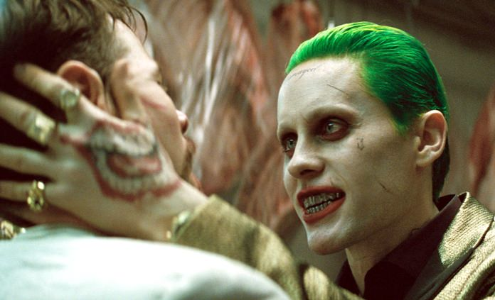 """This image shows Jared Leto (right) in a scene from """"Suicide Squad."""" (Warner Bros. Pictures via AP)"""
