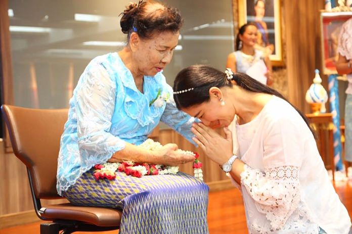 Pattaya Elderly Club celebrated Mother's Day at city hall a week early.