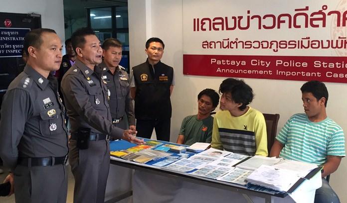 Eakasit Pomkham, Nukul Piriyapranee, and Sathawat Porohoma have been arrested for motorcycle theft.