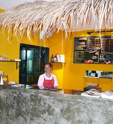 Interior sandwich counter.