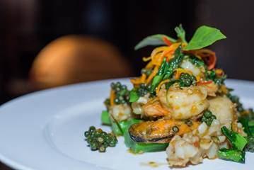 Delicious Thai cuisine at Mantra.