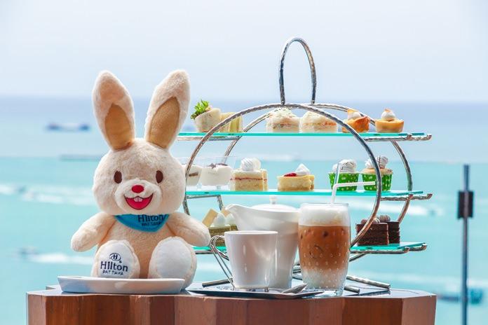Charity Bunny afternoon tea set at Hilton Pattaya.