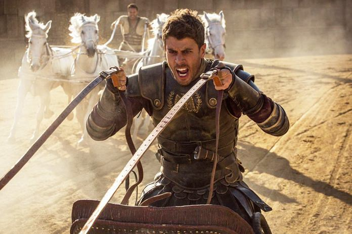 "Toby Kebbell as Messala (front) and Jack Huston as Judah Ben-Hur (rear) are shown in a scene from Paramount Pictures ""Ben-Hur"". (Photo/Paramount Pictures)"