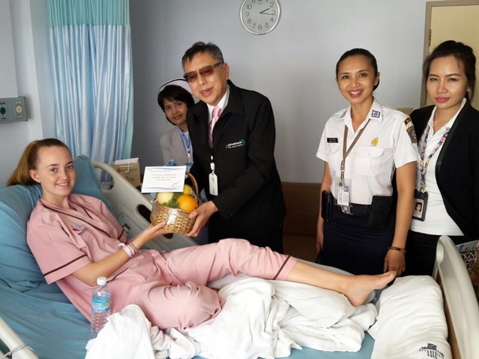 The Pattaya Tourist Assistance Program and the city's police department reached out to victims of the Mother's Day bombings in Hua Hin to show that all of Thailand wants to lend its support.