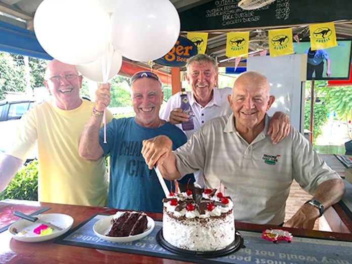 L-R: Wally Brown, Sugar Ray Handford, Eddy Beilby and Jeffrey 'Barney' Clarkson.