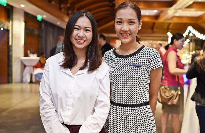Anawin Tharachai, Digital Marketing Executive, and Sudarath Sudabooth, Events Manager at Pullman Pattaya Hotel G.