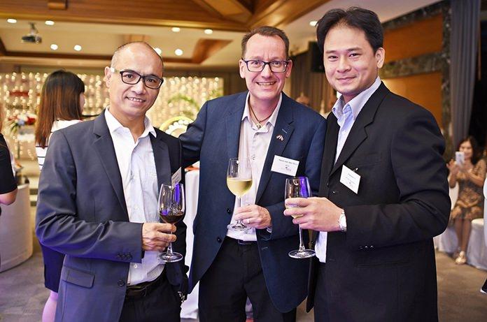 Prayuth Srisongkram from W-Tech, Hans van den Born, Executive Director at NTCC, and Rattaporn Sivamok, Business Development Manager at W-Tech.