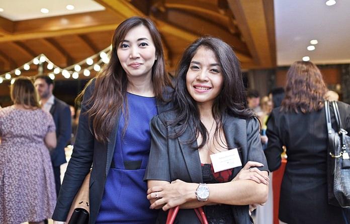 Phatcharaporn Boonyai, Director of Sales at Pullman Pattaya Hotel G, and Sonia Doonsuk, Station Manager at Kiss 91.75 FM.