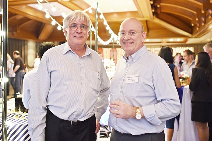 Frank Holzer, Executive General Manager at MHG, and Graham Macdonald MBE, chairman of the SATCC.