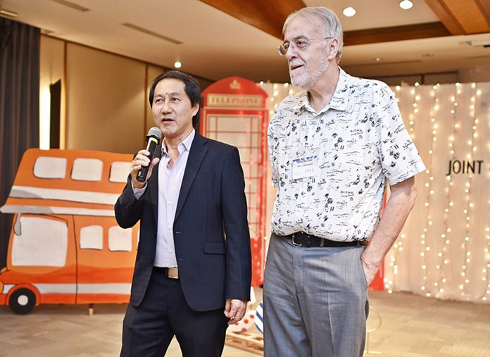 Sophon Vongchatchainont, General Manager at Pullman Pattaya Hotel G gives a welcoming speech followed by several announcements by Chris Thatcher, Vice Chairman at BTCC.