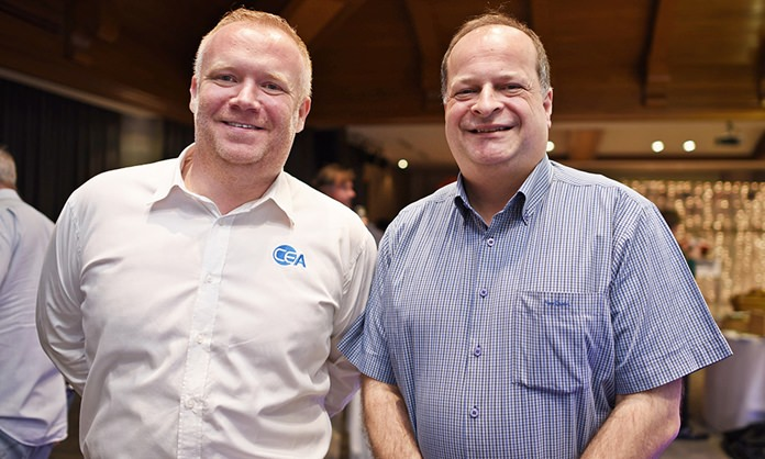 Earl C. Brown, Marketing and Communications Manager at CEA Project Logistics, and Greg Watkins, Executive Director at the British Chamber of Commerce Thailand.