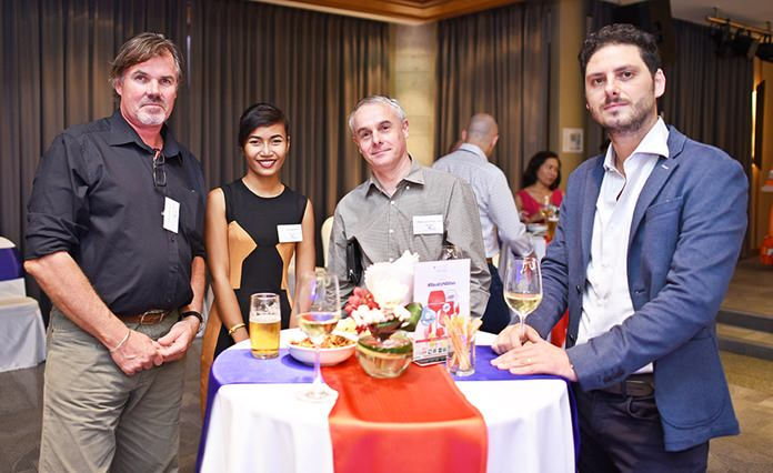 Grant Atkinson, General Manager at Rocket Products International Co., Ltd., Anongrat Nildonwai, sales executive at BVZ Asian, Peter Van den Broecke, SMA Team Manager SEA at Thermaflex Insulation Asia Co., Ltd., and Luca Martin, Asian Suppliers Development Director at Ducati Motor Thailand.