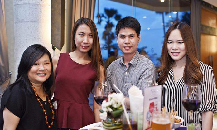 Unchisa Thongtiamporn, Business Development Manager at Assyce Fotovoltaica Thailand Ltd., Pannipa Tansiri, Personal Assistant at Assyce Fotovoltaica Thailand Ltd., Napath Panompornpanich, Account Manager at EuropAsia International Insurance Broker Co., Ltd., and Ganya Aparaks, Event & Key Account Manager at GTCC.