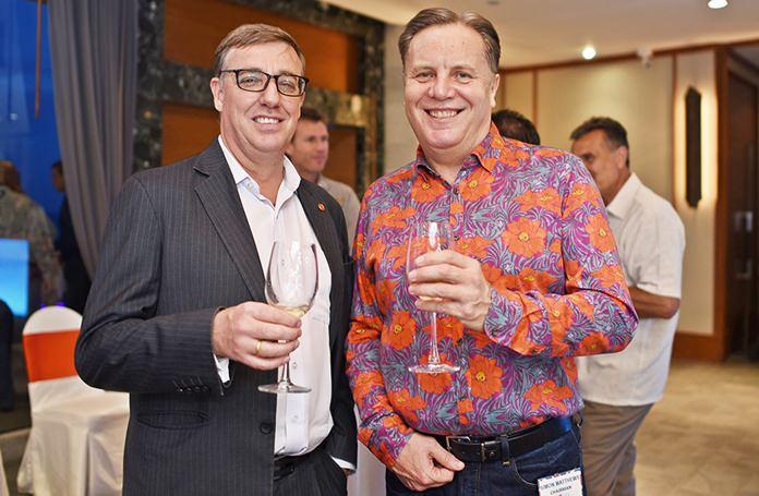Richard Gamlin, Resident Manager of Amari Pattaya, and Simon Matthews from Manpower.