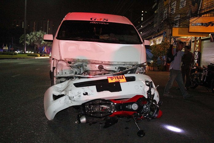 Somchoke Thungpila was killed when his motorcycle was struck by a van while making a U-turn on Sukhumvit Road.
