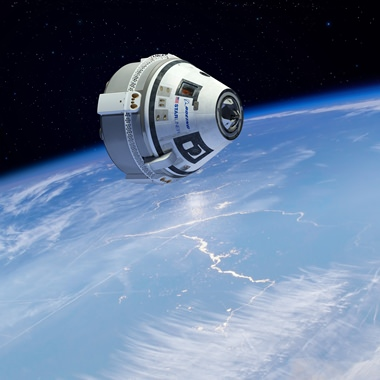 This artist's rendering provided by Boeing on Thursday, Aug. 18, 2016 shows the company's Starliner spacecraft. Americans haven't rocketed into orbit from their home turf since NASA's last shuttle flight in 2011. SpaceX and Boeing expect to resume human launches from Cape Canaveral in another year or two. (Boeing via AP)