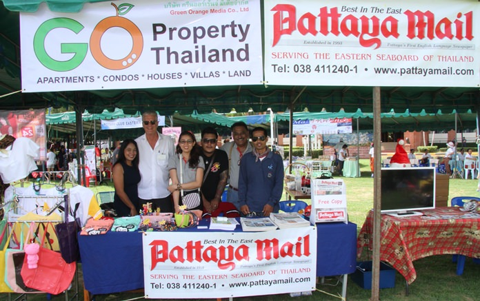 The Pattaya Mail booth welcomes one and all.