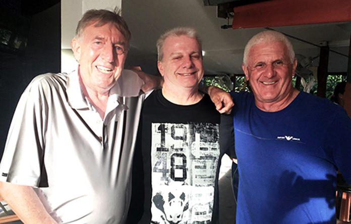 Eddie Beilby (left) with Sel Wegner and Steve Plant.