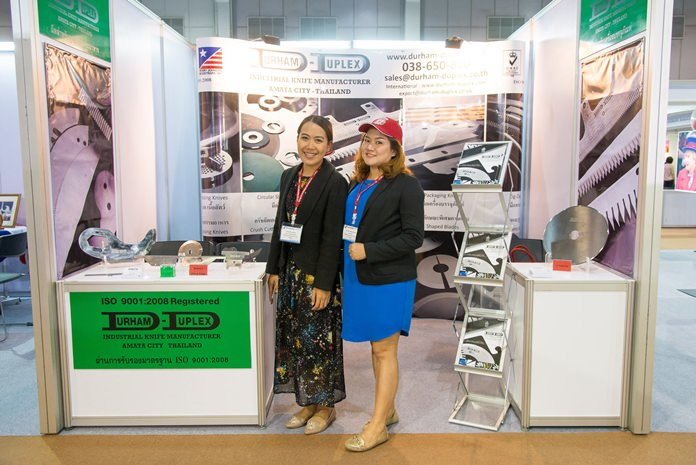 Durham Duplex ready for business at Thai-UK 2016. Transferring Sheffield's great tradition of blade manufacture to Thailand, Durham Duplex (SEA) Limited's factory was established in 2008 in the Free Zone of Amata City Industrial Estate, Rayong.